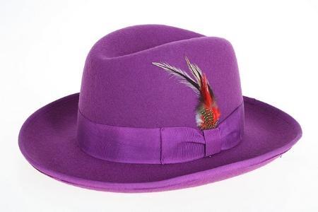 FerrecciMens-Purple-Suit-Felt-Fedora-6653